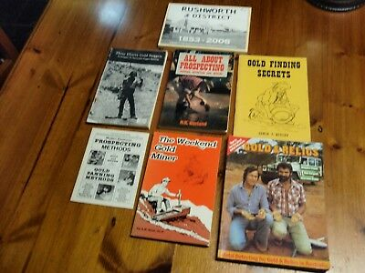 7 x GOLD PROSPECTING BOOKS & AREA HISTORY IN VICTORIA/AUST/US..MANY TIPS/INFO.