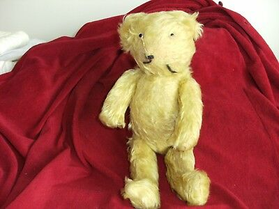 VINTAGE JOINTED TEDDY BEAR 1910's 14IN