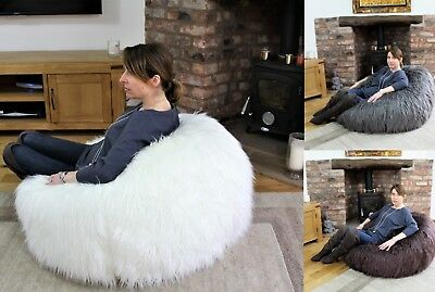 Adults Children Filled Faux Fur Gaming Bean Bag Furry Super Comfy