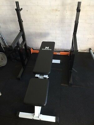 Mirafit squat rack and bench adjustable bench gym equipment