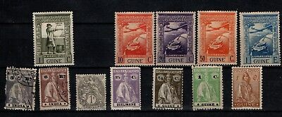 Portugal Portuguese Guinea 1938 onwards early selection Used 12 stamps