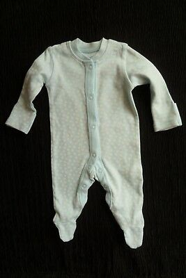 Baby clothes GIRL premature/tiny<7.5lbs/3.4kg NEW! aqua/white babygrow SEE SHOP!
