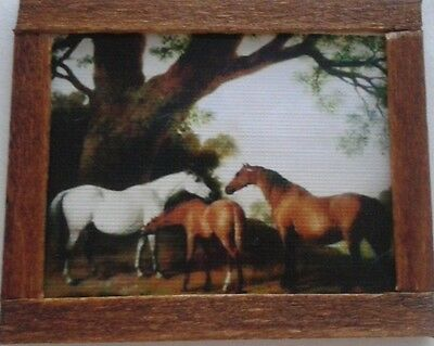 Dolls House A George Stubbs Horse & Foals painting
