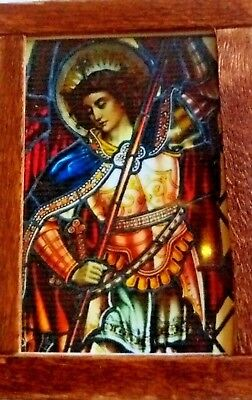 Dolls House Stained glass look Picture Archangel Michael