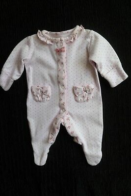 Baby clothes GIRL premature/tiny<7.5lbs/3.4kg NEXT pink floral babygrow SEE SHOP