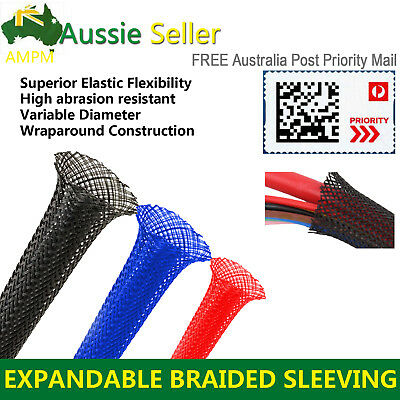 PET Expandable Braiding Sleeving Braided Sleeve Cable Management Protect 3 Weave