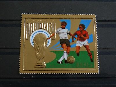 DAHOMEY 1974 586 A Soccer World Cup Germany Fußball WM Football Game Scene MNH