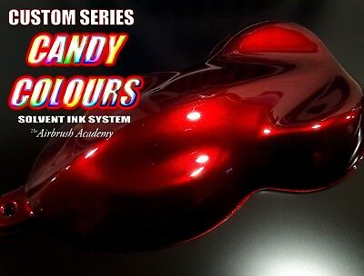 Custom-Series Blood RED Candy Paint , Pre mixed, 500ml -Half litre,  Helmet,