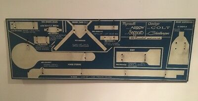 Vintage 1978 Dodge Colt & Plymouth Arrow Special Service Tools Board Mechanic
