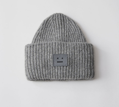 ACNE steel gray hat smiley knit hat brand new with packaging acne acne studios