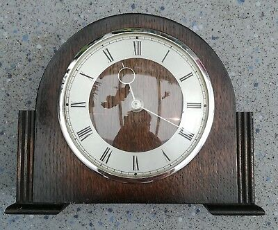 Genuine Vintage wooden Smiths 30 hour mantle clock Spares or repairs