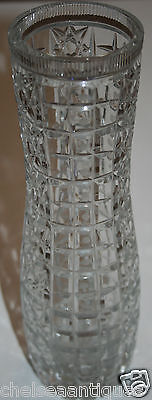 1950s Antique VASE USSR/Soviet Union Cut Crystal H27.5cm Russian Glassware Clear