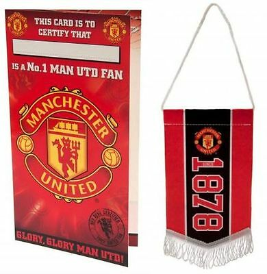 Manchester United Dad Birthday Card Official Football Club Crest