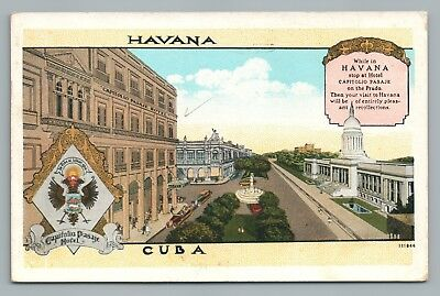 Havana—Capitolio Pasaje—Rare Antique CUBA Habana Hotel—Posted to USA 1927