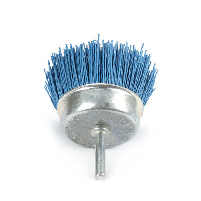 3 Inch Blue Cup Polishing Grinding Abrasive Wire Nylon Brush 6mm Shank 240 Grit