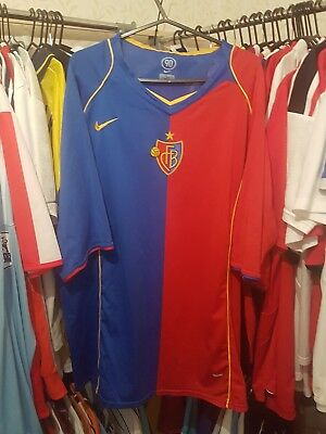 FC Basel Football Shirt 2004/06 Home XXL ~