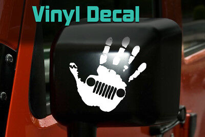 Jeep Wave Decal | Jeep Sticker TJ YJ Wrangler Grand Cherokee