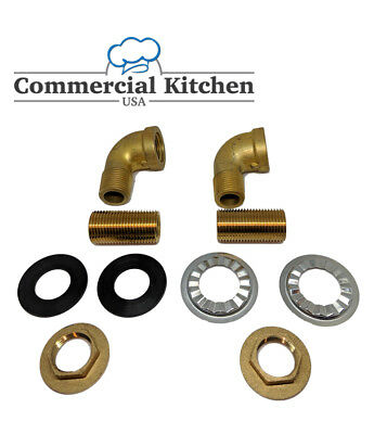 Commercial Faucet Wall Mount Mounting Kit Low Lead