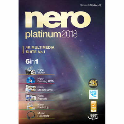 Nero Platinum 2018 Genuine Full Version Retail Edition + Serial Key, READ