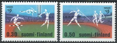 Finland 1971 MNH Set of 2 Stamps - European Athletic Championships - Sport