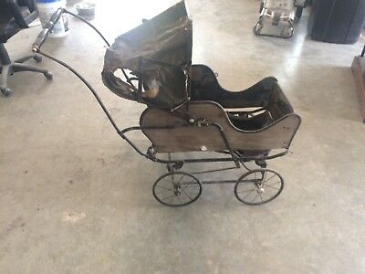 antique folding baby stroller carriage