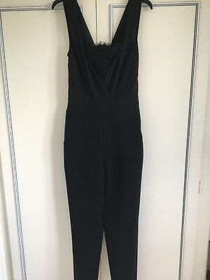 293bab44840 TED BAKER  BLACK jumpsuit  UK size 8  lace detail to front and rear ...