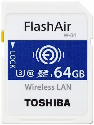 Toshiba FlashAir W-04 Wi-Fi SDXC Flash Memory Card 64GB