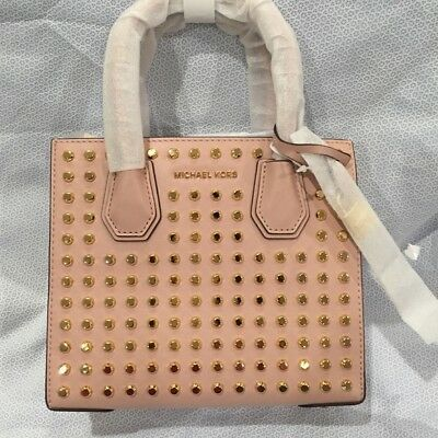 0109fbe77a0c Michael Kors Studio Mercer Messenger Stud and Grommet Medium Ballet NWT