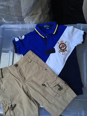 Polo, Ralph Lauren Polo T Shirt And Gap Cargo Shorts Outfit Age 4 Years