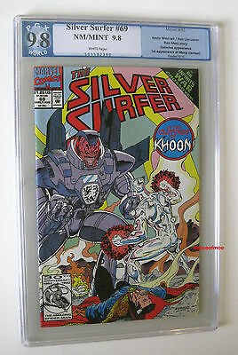 Silver Surfer #69 INFINITY WAR Xover 1992 - 1ST APP MORG ! PGX NM/MT not CGC 9.8