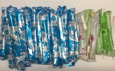 Lot of 51 Tampons Mixed Brands &  Absorbency Wrapped But Not in Box **Free Ship*