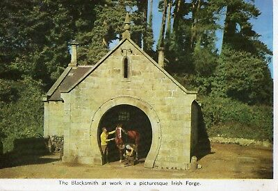 The Blacksmith At Work In A Picturesque Irish Forge Ireland Cardall Postcard