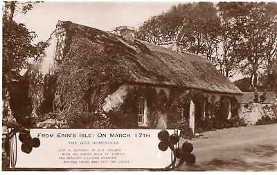 ERIN ISLE 17th MARCH IRELAND VALENTINES ST PATRICKS DAY RP POSTCARD POSTED 1950