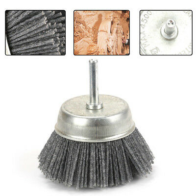 3 Inch Gray Polishing Grinding Abrasive Wire Nylon Cup Brush 6MM Shank 120 Grit