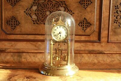 400 day brass antique anniversary clock, good working order