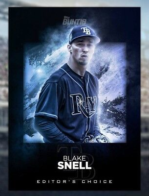 2018 EDITOR'S CHOICE BLAKE SNELL Topps Bunt Digital Card