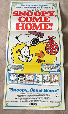 Snoopy Come Home Movie Poster 1972