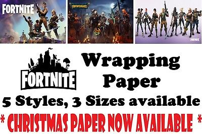 Unique FORTNITE Wrapping Paper, A1/A2/A3, 5 Styles to chose inc FORTNIGHTMARES!