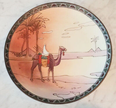 Stunning Hand Painted NIPPON Wall Charger - Rare Desert Scene - Green Mark