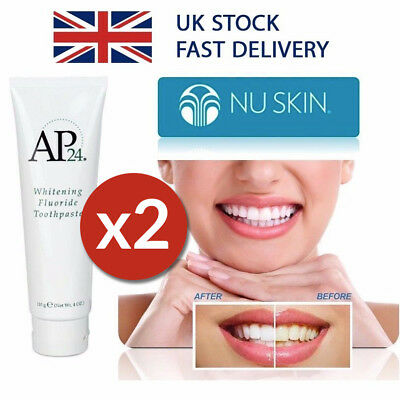 2 x Nu Skin AP-24 Whitening Fluoride Toothpaste - FULL 110g TUBE - No Peroxide