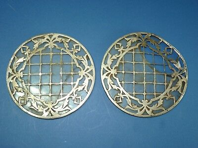 Sterling Silver & Glass Coasters Trivet