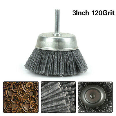 2.6 Inch Gray Polishing Cleaning Grinding Abrasive Wire Nylon Brush 240 Grit