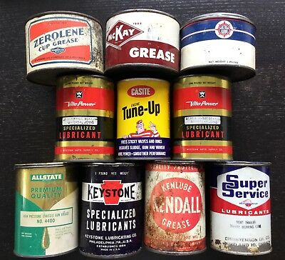 Vintage Oil Cans - Lot Of 10