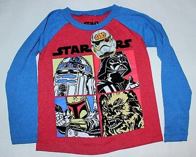 Boys Sz 4 Star Wars Shirt Long sleeved top New w tags
