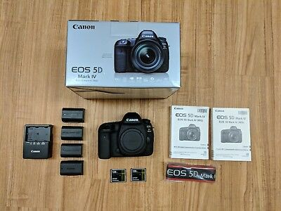 Canon EOS 5D Mark IV Camera, 3500 shutter count w/ proof, and extras