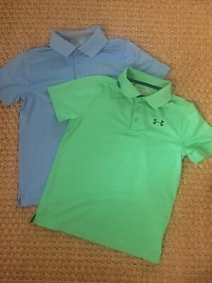 Under Armour Short Sleeve Polo Shirts Loose Heatgear Boys YMD (2 shirts)