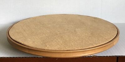 Longaberger Lazy Susan Wood Base & Felt Liner