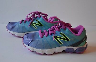 new style 5aca3 1c665 ... NEW Girls Sz 11 Youth NEW BALANCE 890 V5 Blue Purple Running Shoes  Sneakers ...