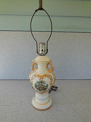 Nice Vintage Victorian Style Ceramic Table Lamp / Prompt Safe Shipping