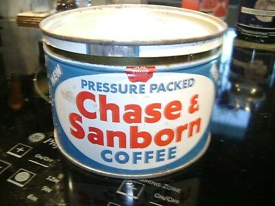 Vintage Coffee Can - Chase & Sanborn Coffee